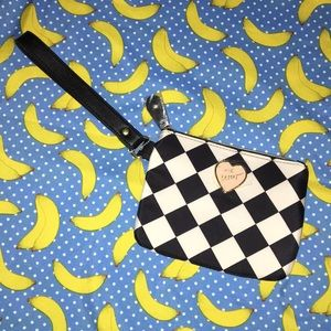 Betsey Johnson Black and White Wristlet